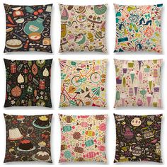 Carrot Cake Candy Ice Cream Christmas Joy Holiday Ornaments Mini Patterns Delights Cushion Cover Decor Sofa Throw Pillow Case-in Cushion Cover from Home & Garden on Aliexpress.com   Alibaba Group Sofa Throw Pillows, Throw Pillow Cases, Cushions On Sofa, Joy Holiday, Ice Cream Candy, Textiles, Floral Patterns, Holiday Ornaments, Carrot Cake