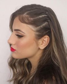Open Hairstyles, Bun Hairstyles For Long Hair, Braids For Long Hair, Summer Hairstyles, Girl Hairstyles, Half Pony Hairstyles, Indian Wedding Hairstyles, Party Hairstyles, Braided Hairstyles