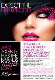 Client  Artz Axentz Boutique  Postcard