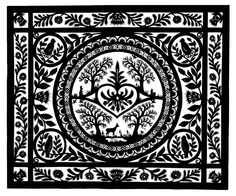 Fancy Woodland Description: Single piece of silhouette paper handcut with surgical scissors. Laurel Tattoo, Paper Art, Paper Crafts, Paper Cutting Templates, Scandinavian Folk Art, Origami, Silhouette Art, Artist Gallery, Paper Quilling