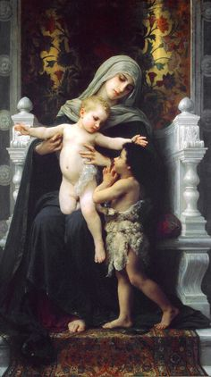 Mary & Jesus by Bouguereau 14   by Waiting For The Word