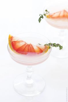 Blushing Kiss Martini {Gin + St-Germain and Grapefruit} via Bakers Royale