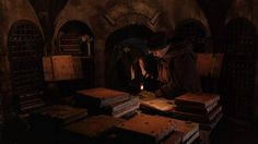 Fictional Library:  The monastery library, The Name of the Rose, Umberto Eco