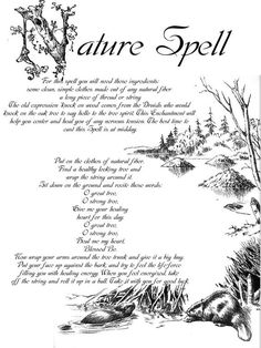 A Nature Spell (Printable Spell Pages)   Witches Of The Craft®
