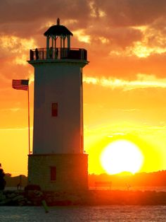Lighthouse Sunset - Fond du Lac, Wisconsin by Sean Massey