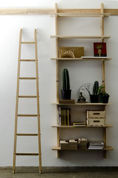 Beautiful shelving made by James Mudge (http://jamesmudge.com). He is also making a fold-out daybed for the yoga annex. Cant wait!