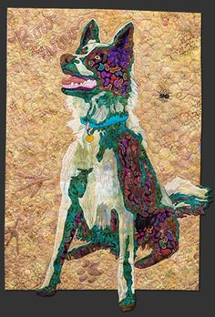 Dog block, in the Farm Quilt by Bonnie Keller. BOM at American Quilter's Society
