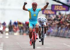 Congratualtions to Kazakhstan's Alexandr Vinokourov who won the men's cycling road race at the London 2012 Olympic Games
