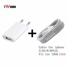 For Iphone 7 6 plus 5/5s/5c Power Chargers Adapter & USB Charging Charger Cable (White) Free For Mobile phone accessories #clothing,#shoes,#jewelry,#women,#men,#hats,#watches,#belts,#fashion,#style