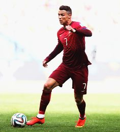 Cristiano Ronaldo Photos - Cristiano Ronaldo of Portugal controls the ball during the 2014 FIFA World Cup Brazil Group G match between Portugal and Ghana at Estadio Nacional on June 2014 in Brasilia, Brazil. - Portugal v Ghana: Group G Ronaldo Photos, International Champions Cup, Ronaldo Real Madrid, Cristiano Ronaldo Cr7, Good Soccer Players, Football Love, How To Make Shorts, Best Player, Fifa