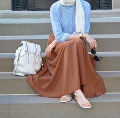 Turkish hijab style 2016 for mohajaba Islamic Fashion, Muslim Fashion, Modest Fashion, Fashion Outfits, Hijab Fashion Summer, Fashion Bags, Casual Hijab Outfit, Hijab Chic, Hijab Fashion Inspiration