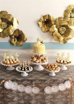 Gold and Creme Baby Shower