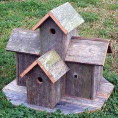 rojo kayo: Share Rustic birdhouse