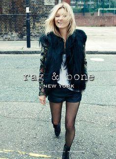Kate Moss for Rag & Bone - Fall 2012 campaign