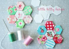 """1/2 inch hexagons. Great sewing blog!  """"a little sweetness"""""""