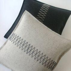 Classy and beautiful pillows by fuzzylogicfelt