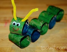 TPcraft.com: Paper Towel Roll Caterpillar