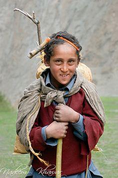 Young Balti Shepherd from Pakistan