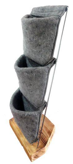 Jardinera vertical de fieltro reciclado de gran calidad. Crea tu jardín o huerto vertical