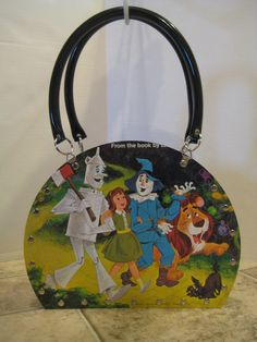 The Wizard Of Oz Vintage Vinyl Record Tote Purse Handbag Retro Walt Disney  Storybook Album Recycled Handmade Yellow Brick Road 0e6275cad2360