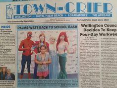 Made it to the paper lol! www.afairytalecometrue.com 561-396-3644 Princess Parties Palm Beach superhero parties Palm Beach princess party Florida frozen party