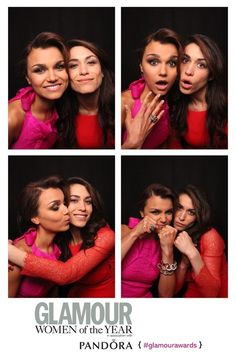 Samantha and Kim Barks in the photobooth at the Glamour Awards