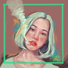 Cloakwork. #art #illustration #digital #painting #girl