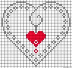 hearts cross stitch pattern