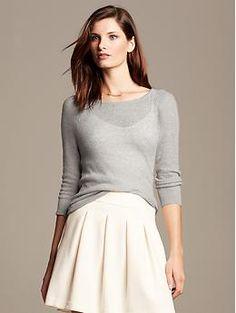 Textured Lightweight Pullover