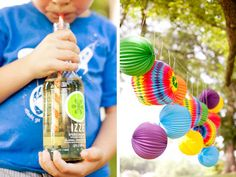 BEYOND THE BIG DAY: A SUMMER POPSICLE PICNIC- colorful lanterns