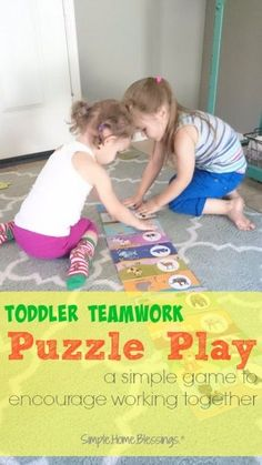 Toddler activity to