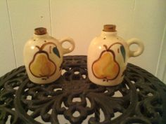 FREE SHIPPING Vintage Mini Pear Maple Jug S&P Shakers by cappelloscreations, $13.00 @Etsy