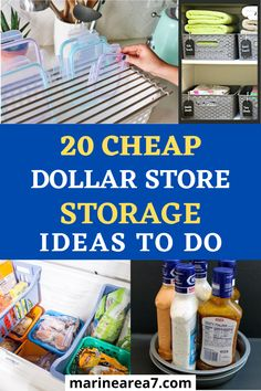 You can easily create more affordable and functional home storage when you use these genius dollar store storage ideas. These home organizing hacks with dollar tree items are perfect for low budgets. Organization ideas for the home on the cheap side are always the best. #Organizing #DollarStore