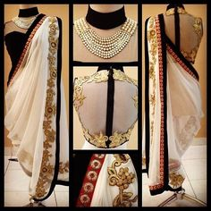 Stylish Indo Western Sari. - SAREE - EXCLUSIVE COLLECTION