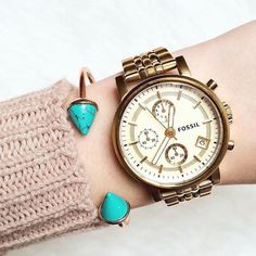 Turquoise Bangle Bracelet #bangles #fossil #watches #cuffbracelet - 14,90 € @happinessboutique.com