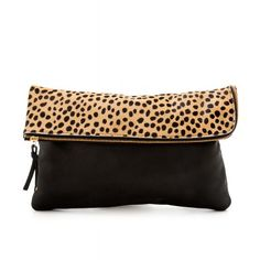 Gorjana Perry II Noir Small Cheetah Clutch