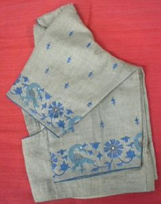 Cotton blouse with machine embroidery 7702919644 Kurta Patterns, Blouse Patterns, Hand Embroidery Dress, Machine Embroidery, Blouse Desings, Mirror Work Blouse, Maggam Work Designs, Blouse Designs Silk, Embroidery Designs
