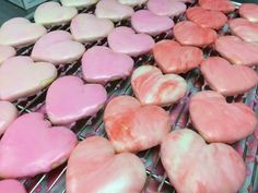 Glazed Heart Cookies