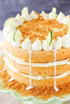 This Key Lime Pie Layer Cake is so good! Layers of key lime cake, key lime frosting with a touch of sweetened condensed milk and graham cracker crumbs make this cake reminiscent of the pie and full of flavor! So I'm pretty sure I've mentioned before that the hubs and I are opposite as far …