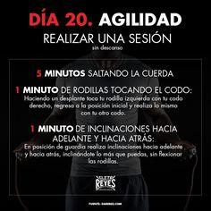Día 20. Agilidad. #RetoDelBoxeador #Box #Boxing #CletoReyes #workout #training