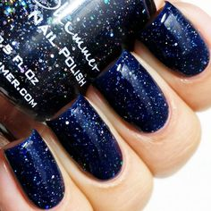 KBShimmer: ⭐ Carpe Denim ⭐ ... Loaded with small silver holographic glitters, this is a dark denim, navy jelly polish