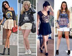 esse3 Camisetas de Banda de Rock Femininas. Você curte?