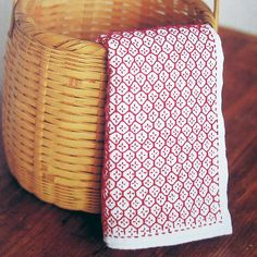 How beautiful is this simple sashiko!