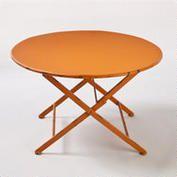 Orange Metal Folding Coffee Table