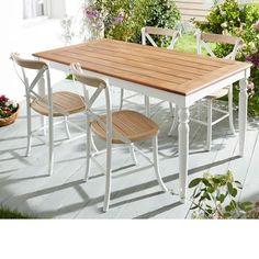 New Gartenm bel Set aus Akazienholz und Aluminium teilig