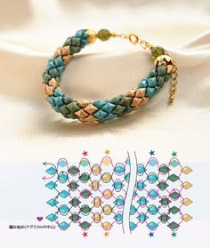 Diamond Duo rope bracelet ~ Seed Bead Tutorials