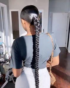 """The Ponytail Girl"" Hair Ponytail Styles, Ponytail Girl, Weave Ponytail Hairstyles, Baddie Hairstyles, Sleek Ponytail, Protective Hairstyles, Curly Hair Styles, Natural Hair Styles, Black Girls Hairstyles"