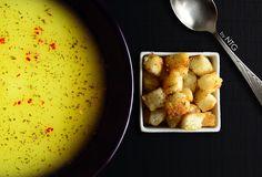Potato cream soup Cream Soup, French Toast, Potatoes, Breakfast, Ethnic Recipes, Food, Morning Coffee, Potato, Essen