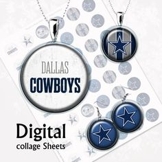 Dallas Cowboys NFL Digital Collage Sheet .  1 от MyMidnightMoon