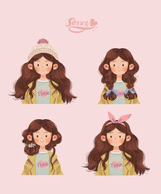 New Children Illustration Inspiration 61 Ideas Cartoon Drawings, Cartoon Art, Cute Cartoon, Cute Drawings, Cartoon Painting, Drawing Faces, Illustration Vector, Portrait Illustration, Character Illustration
